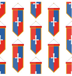 knights flags medieval weapons heraldic knightly vector image vector image