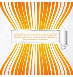 Orange stripes with white banner vector image