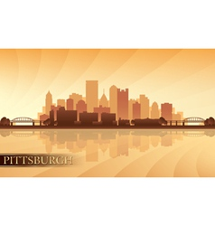 Pittsburgh city skyline silhouette background vector
