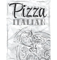 Poster Pizza Paper vector image vector image