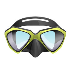 Professional diving mask snorkeling vector