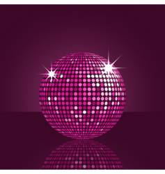 purple disco ball vector image vector image