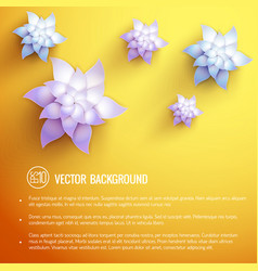 realistic natural beautiful poster vector image vector image