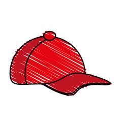 Red hat design vector
