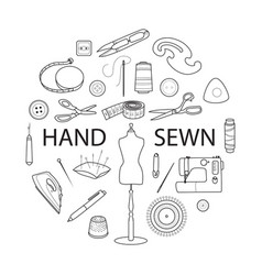 sewing tools concept vector image