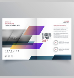stylish magazine booklet brochure design vector image vector image