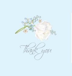 tulip thank you blue vector image vector image