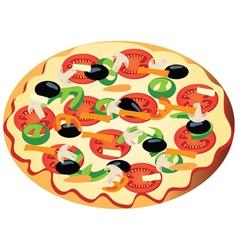 Veggi pizza vector