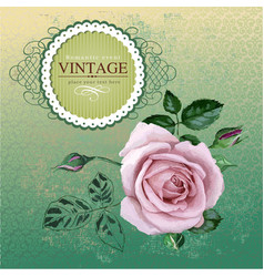 Vintage border with rose vector image