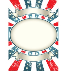 vintage usa background vector image