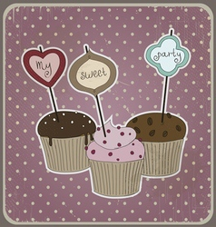 with cakes vector image