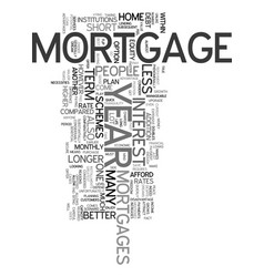 Year mortgage text word cloud concept vector