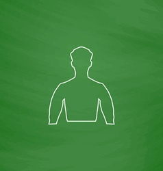 Unknown male computer symbol vector