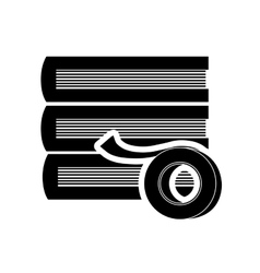 Books and ribbon icon vector image
