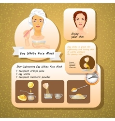 Egg white face mask recipes vector