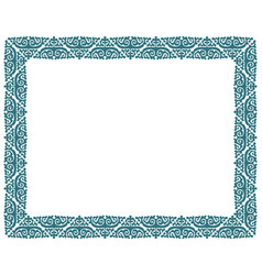 Square picture border frame vector