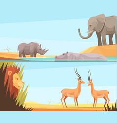 African wild banners set vector