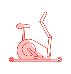 Stationary bicycle sport flat shadow vector