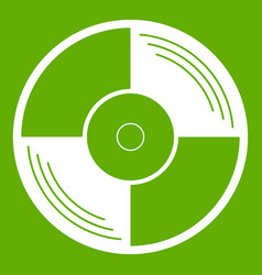 vinyl record icon green vector image