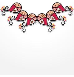creative flora design vector image