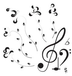 Music treble clef and notes for your design vector