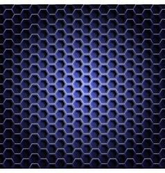 Realistic hexagonal grid background vector