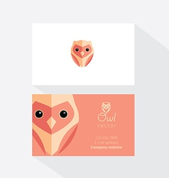 Owl business card template vector