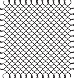 Black woven wire fence vector