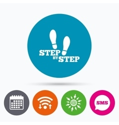 Step by step sign icon footprint shoes symbol vector