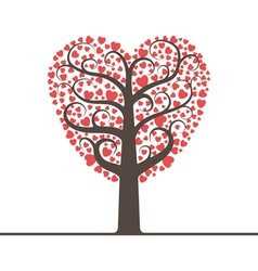 Love tree with space for text vector