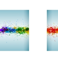 Bright watercolor stains Paint splashes vector image vector image