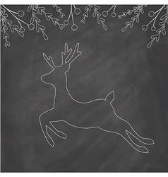 Chalk deer vector
