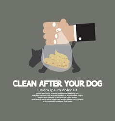 Clean up after the dog vector