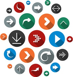 Cloud set of round modern arrow icons vector image vector image