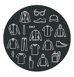 Collection of Mens Clothes and Accessories vector image vector image