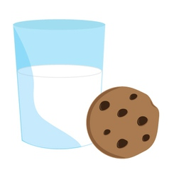Cookie and milk vector