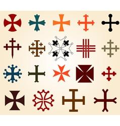 Crosses set vector