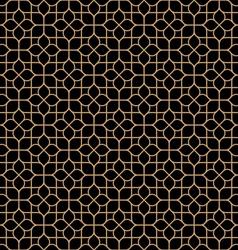 Dark seamless flower pattern in oriental style vector