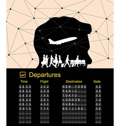 Departure boarding with abstract background vector