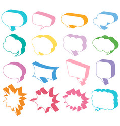 different designs of speech bubbles in 3d vector image