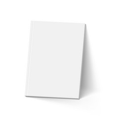 Gray book on white mockup template vector