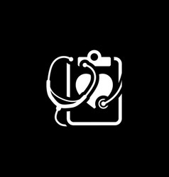 Heart care icon flat design vector