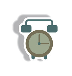 In paper sticker style clock vector