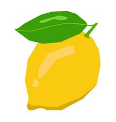 Isolated geometric lemon vector