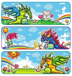 Magical banners vector