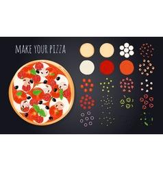 Make pizza ingredients set vector