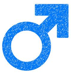 Male symbol grunge icon vector
