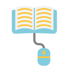 online learning flat icon education and internet vector image