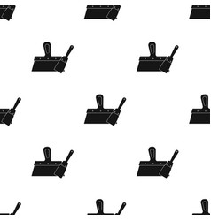 putty knives icon in black style isolated on white vector image vector image
