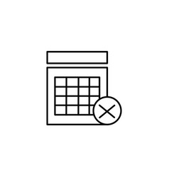 rejected calendar event icon vector image